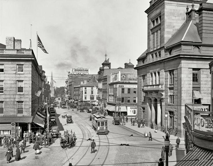 Main Street in Fall River, Massachusetts 1920 | American