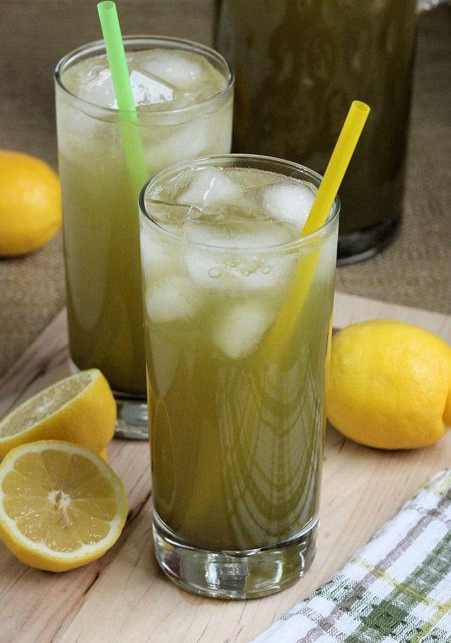 Matcha Green Tea Lemonade. I'm adding mint, so good!