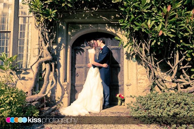 a simple kiss in a doorway