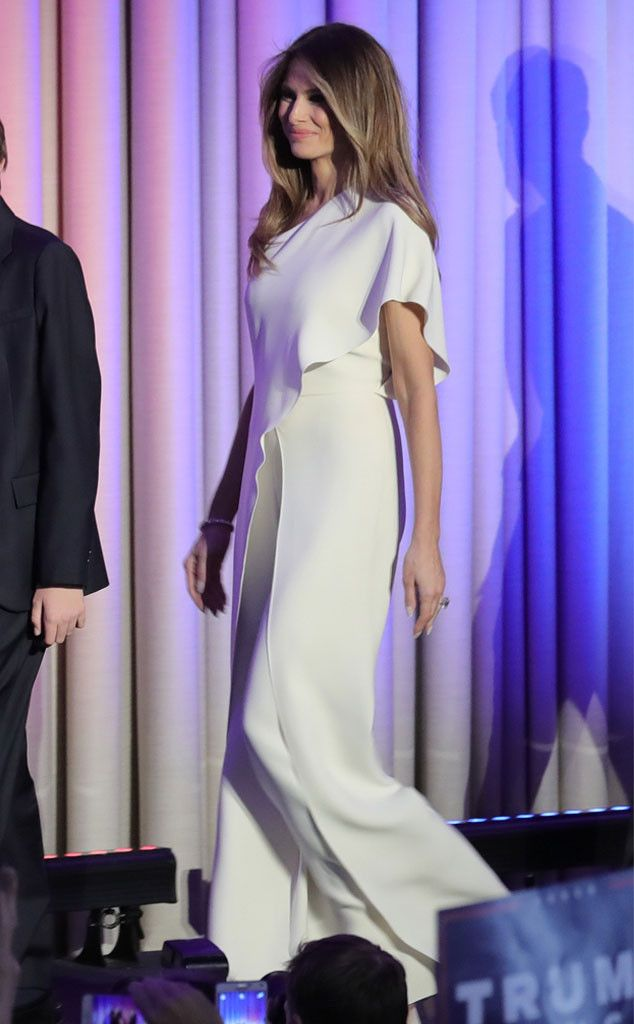 All the Details on Melania Trump's $3,990 Election Night Jumpsuit | E! News
