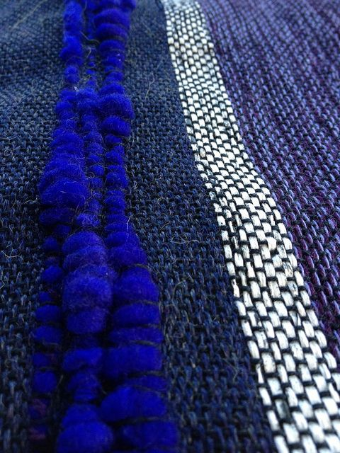 Blues by Moggy and Me, via Flickr Saori weaving