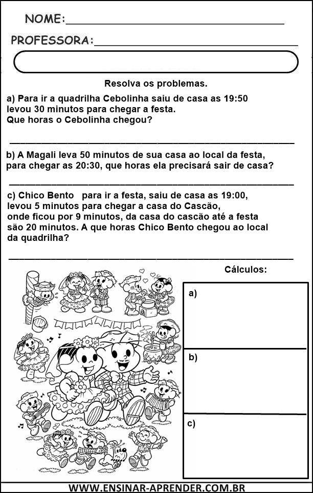 40 Atividades Matematicas Festa Junina Com Imagens Atividades