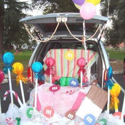 church halloween crafts decor ideas trunks or treats decor cars treats ...