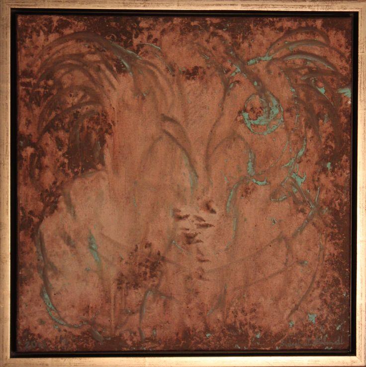 "Art. Acryl. Painting.  Det ""kakles"", 40 x 40 cm. www.vintervollmalerier.com"
