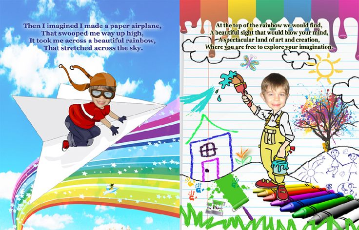 Personalized Books for Kids, a preview of the boys version