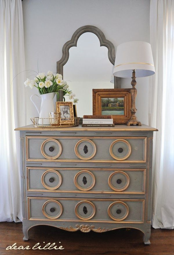 Soft Surroundings Dresser and One Finished Wall in our Master Bedroom by Dear Lillie