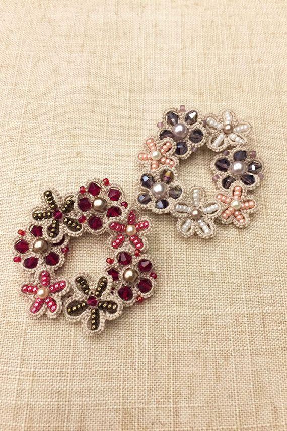 Tatting lace brooch / applique pdf pattern Flower by TheKimAndI