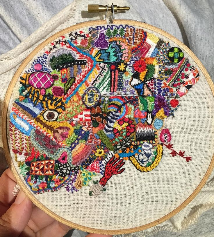 1 Year of Stitches as Seen Through One Embroiderer's Hoop