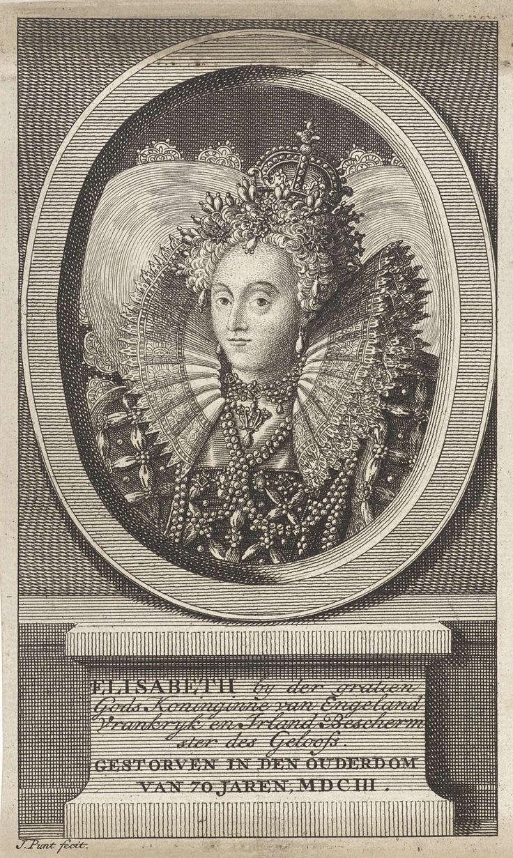 Portret van Elizabeth I Tudor, koningin van Engeland, Jan Punt, 1786