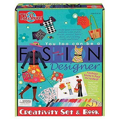 T.S. Shure You Too Can be a Fashion Designer Creativity Set & Book | eBay