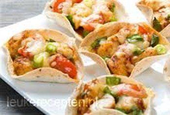 Mexicaanse burritohapjes met kip