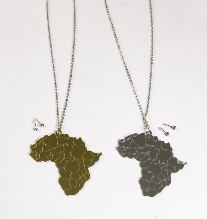 Africa Map Horn Of Africa%0A Africa Map Mirror Necklaces