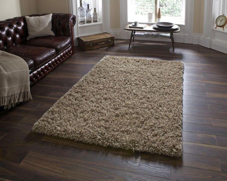 amazon am10 beige shaggy rug by think rugs