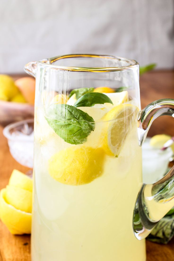Basil Lemonade // The Food Charlatan. You will never go back to regular lemonade!