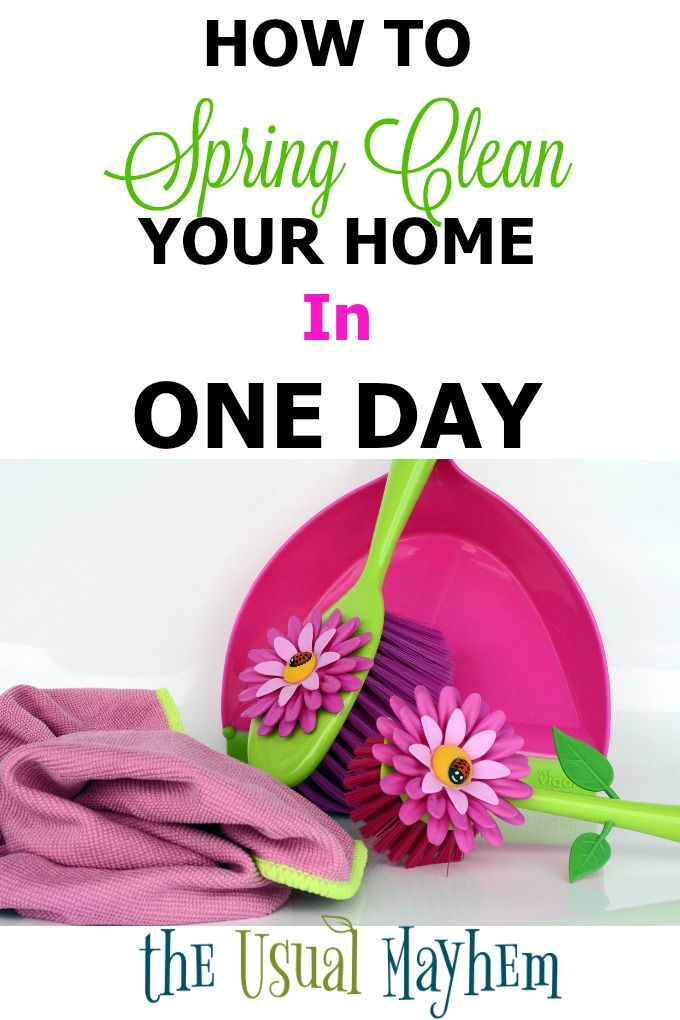 how to spring clean your home in one day