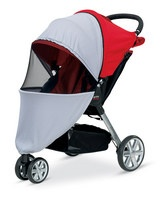 Protect tiny travelers from bugs and UV rays with this net made for the Britax B-Agile stroller. It's easy to install and provides full ventilation for added comfort.Compatible with the Britax B-Agile stroller (sold separately)19'' W x 30'' H x 34'' DMade in the USA