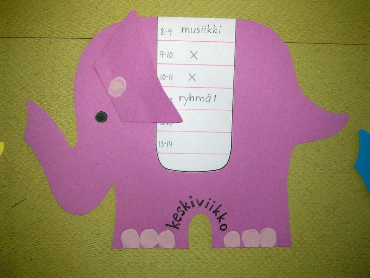 Lukujärjestys -elefantti.