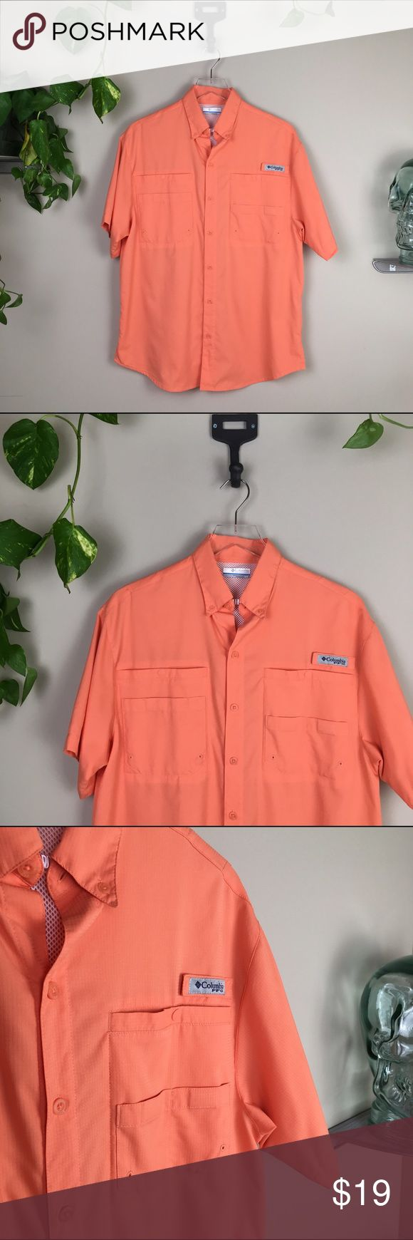 "Columbia PFG shirt! ✨Columbia shortsleeve PFG shirt. Features: Omni-Shade UPF 40 provides maximum protection for long hours in the sun Omni-Wick technology actively breathes and pulls moisture away from your skin Modern Classic fit Antimicrobial treatment protects this shirt from bacterial growth Mesh-lined vent at center back ✨new without tags  🍍offers welcomed ✨no trades, ""modeling"", or measurements  🌈accurate sizing &stock photos have been provided when avail. Columbia Shirts Casual…"