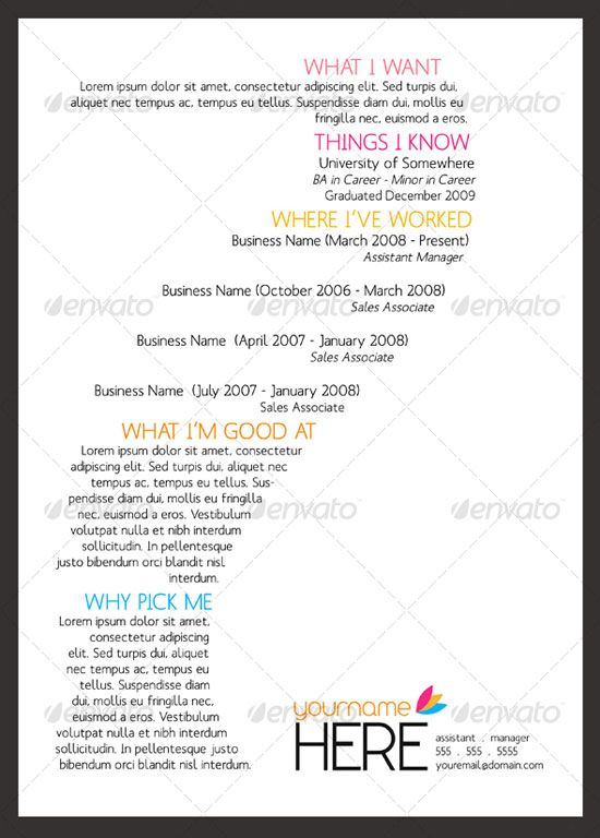 12 best images about job\/resume on Pinterest Cool resumes - job resume layout