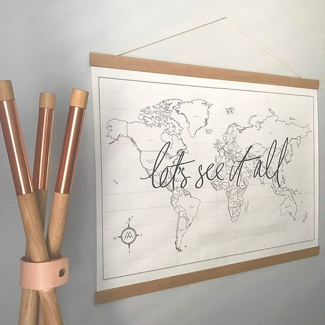 One of my absolute favourite pieces in the store (and my home!) is the @axelandash world map.   I often look at it wistfully and imagine the next destination I want to visit - probably not happening anytime soon but a girl can dream!  These babies come with oak trim and a rope hanger, rolled in a tube ready to go - perfect to give as a gift for a special someone this Xmas   Just $149.99 or 4 easy payments of $37.50 with Afterpay  www.peppapenny.com