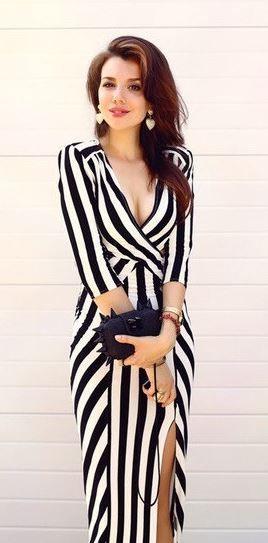 Cut out, sailor stripe dress