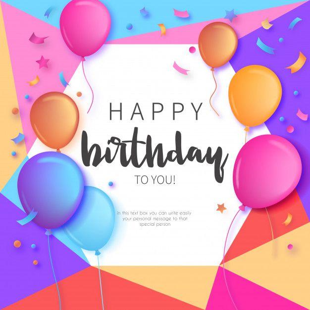 Skachivajte Krasochnoe Priglashenie Na Den Rozhdeniya S Vozdushnymi Sharami Besplatno Birthday Card With Name Birthday Card Online Editable Birthday Cards