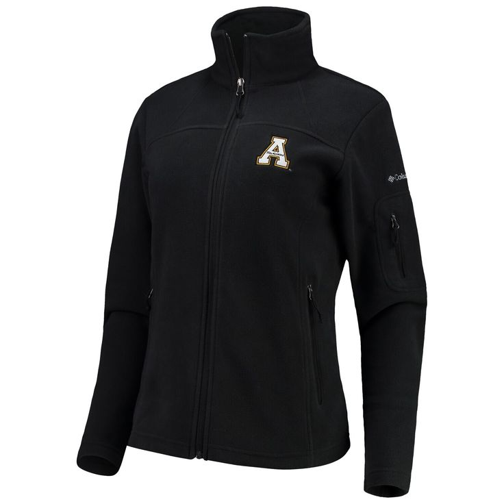Women's Columbia Black Appalachian State Mountaineers Give & Go Full-Zip Jacket