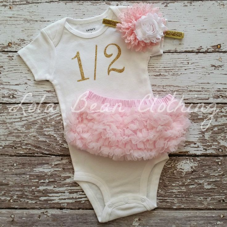 "Gold 1/2 Birthday Bodysuit CAKE SMASH OUTFIT Baby Girl 1/2 Birthday Photo Prop 6 months Birthday ""1/2"" Bodysuit Gold Pink White Headband by LolaBeanClothing on Etsy https://www.etsy.com/listing/255774077/gold-12-birthday-bodysuit-cake-smash"