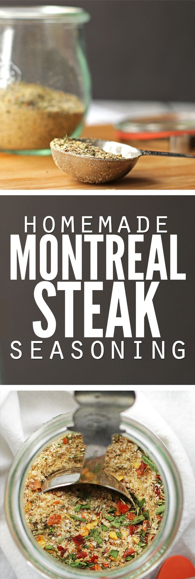 Easy recipe for homemade Montreal steak seasoning plus bonus homemade Montreal chicken seasoning, using spices you already have. Frugal, simple and delicious - it's our favorite spice for just about anything!