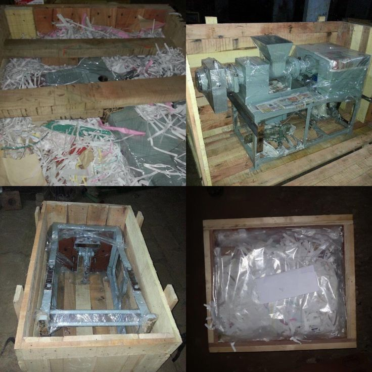 Soap Making Machine Seaworthy plastic wrapped packing in rigid wooden box, Pouring Souls.