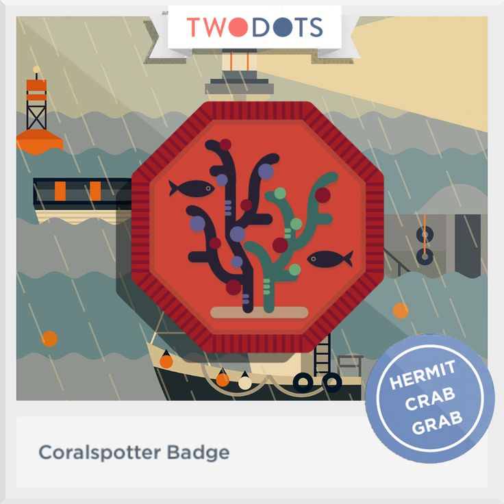 I spied jewels in the seaside pools and earned my Coralspotter Badge! - playtwo.do/ts #twodots
