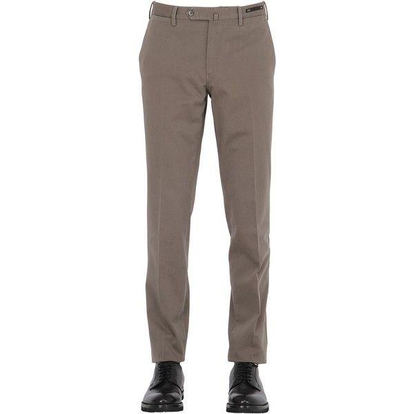 Pt01 Men 18cm Summer Traveller Gabardine Pants ($225) ❤ liked on Polyvore featuring men's fashion, men's clothing, men's pants, men's casual pants, khaki, mens gabardine pants, mens flat front dress pants, mens slim pants, mens slim fit pants and mens slim khaki pants