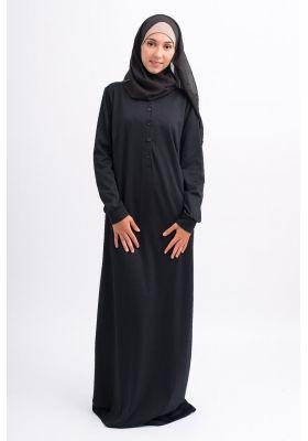 Femmes Pas Boutique Cher Pour Robe Longue Noir Musulmanes Casual dQhCBtsrox