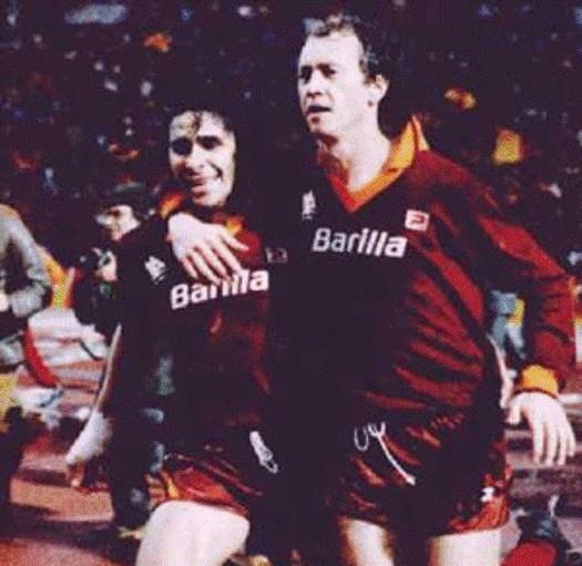 Paulo Roberto Falcao e Bruno Conti