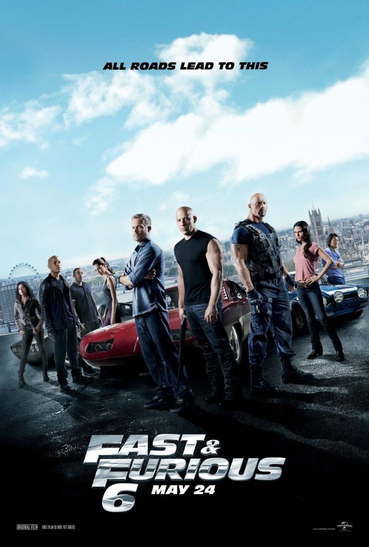 Fast & Furious 6 (2013) Action | Crime | Thriller - 24 May 2013 (USA) - Stars: Dwayne Johnson, Vin Diesel, Paul Walker