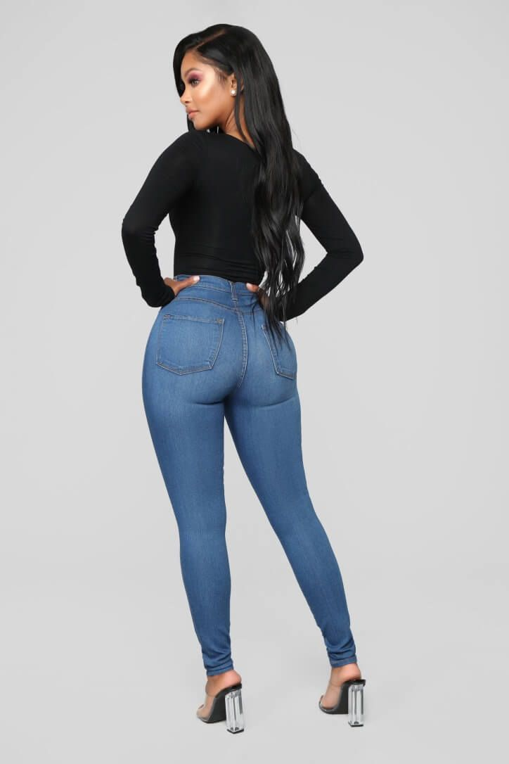 5c29e532f2 Classic High Waist Skinny Jeans - Medium Blue Wash in 2019 | Booty's ...