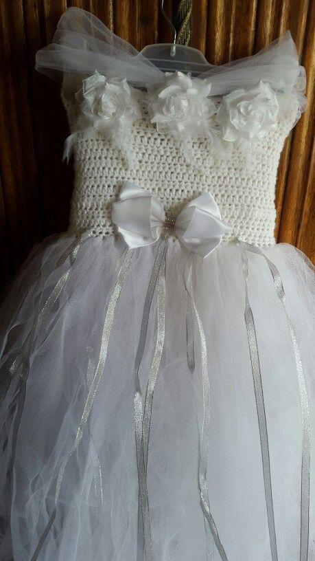 White occasion dress by woolandtutu@gmail.com