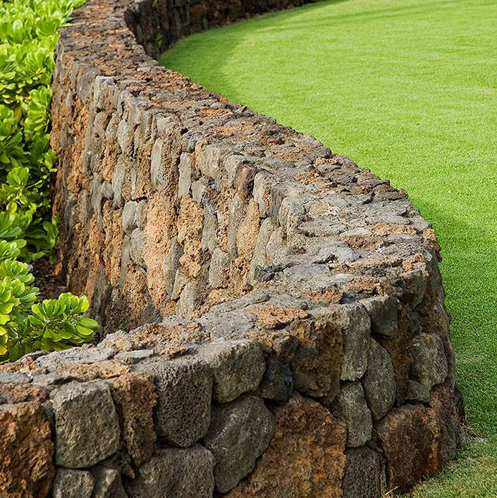 Curved Stone Wall Elements Of The Garden Walls Fences
