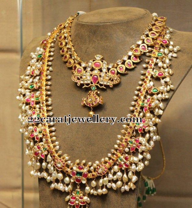 Gotapusalu Ruby Polki Necklace   Jewellery Designs