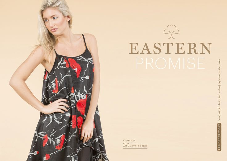 Jayley Summer Preview 2016 Eastern inspired poppy print asymmetric dress