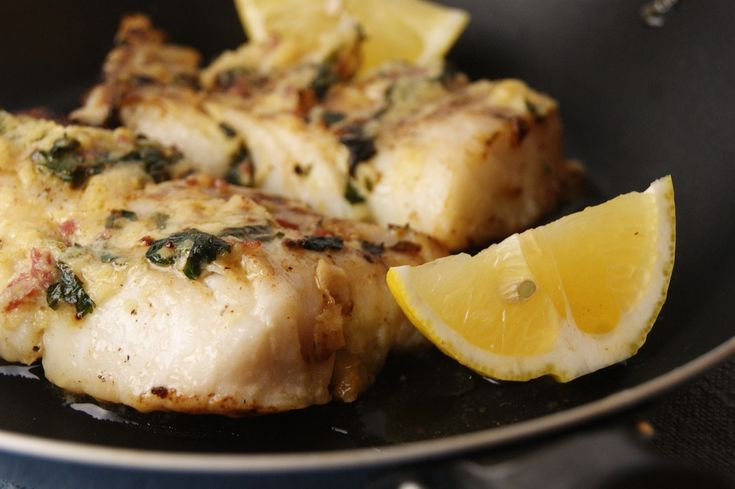 Baked cod with garlic butter