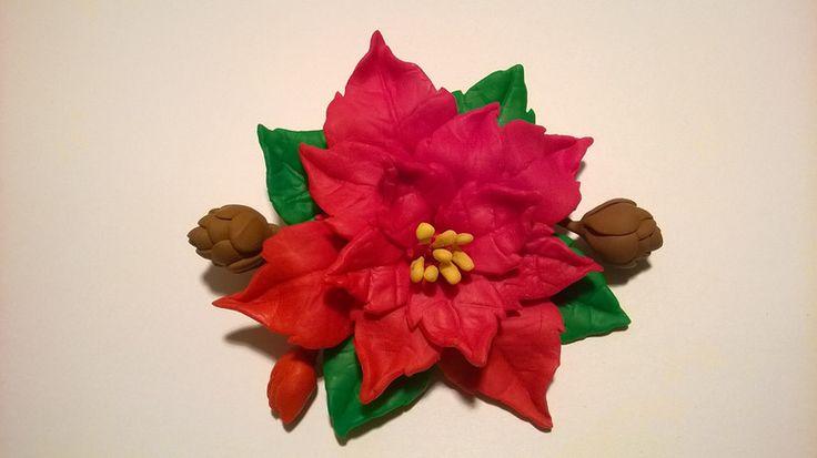 Weihnachtsstern Brosche von Macrame&Polymer Clay - Shop auf DaWanda.com