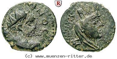RITTER Mesopotamien, Edessa, Elagabal, Tyche #coins