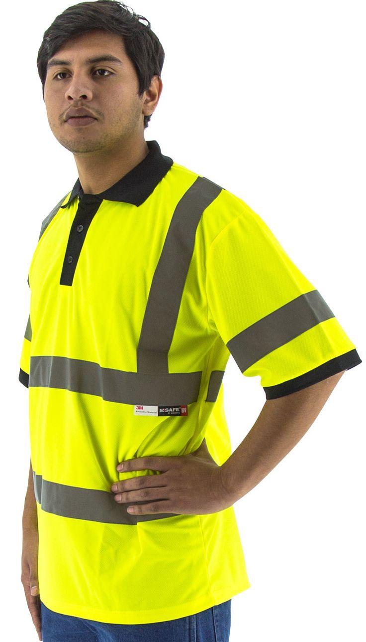 Majestic 75-5311 Hi Vis Yellow Polo Shirt ANSI Class 3
