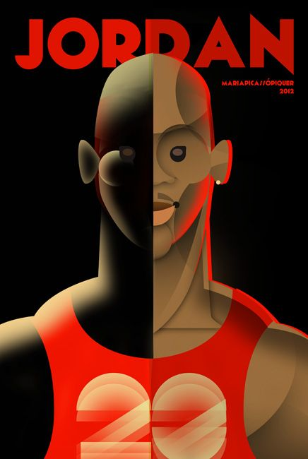 Michael Jordan caricature by MARIA PICASSO : http://www.mariapicasso.com/michael-jordan-caricature/