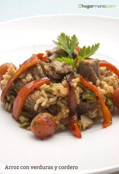 Receta de Karlos Arguiñano de arroz con cordero, judías verdes, tomate y pimiento, un plato equilibrado, económico y recomendado para todos.