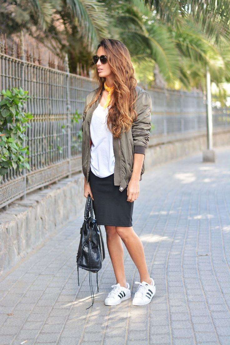 bomber jacket + pencil skirt | stellawantstodie