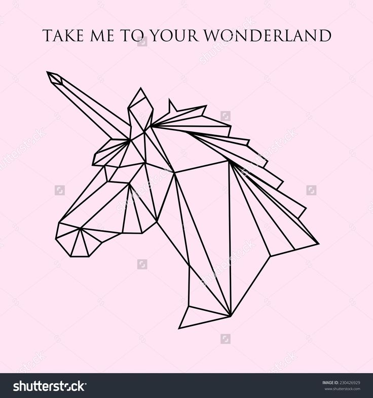 geometric unicorn - Google Search This seems fitting don't you think