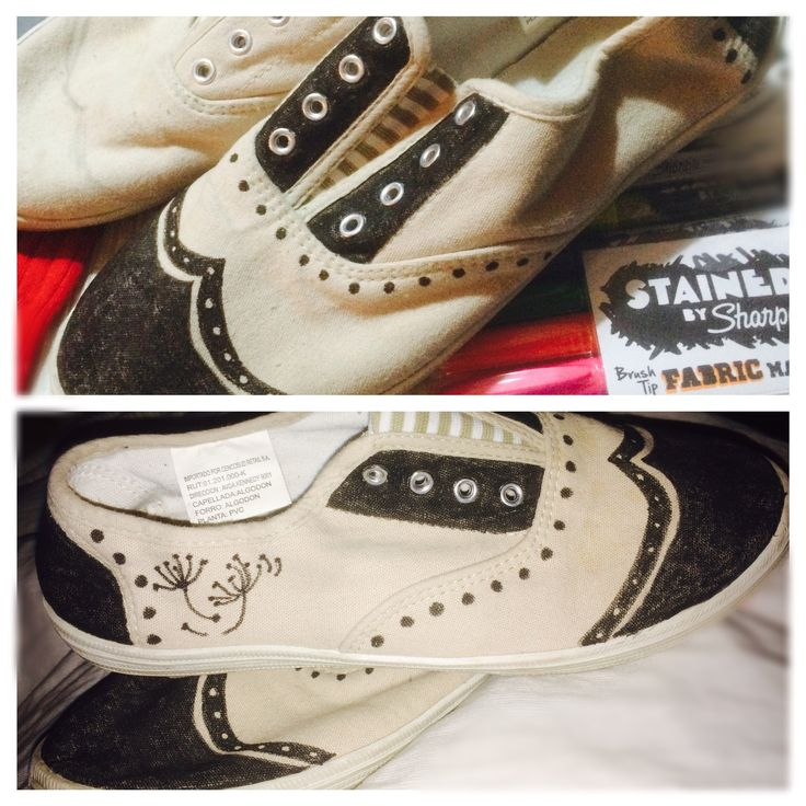 #stained #sharpie refresh old shoes