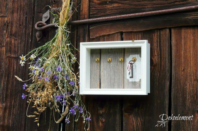 Dekoelement: Schlüsselbrett im Landhausstil selber bauen